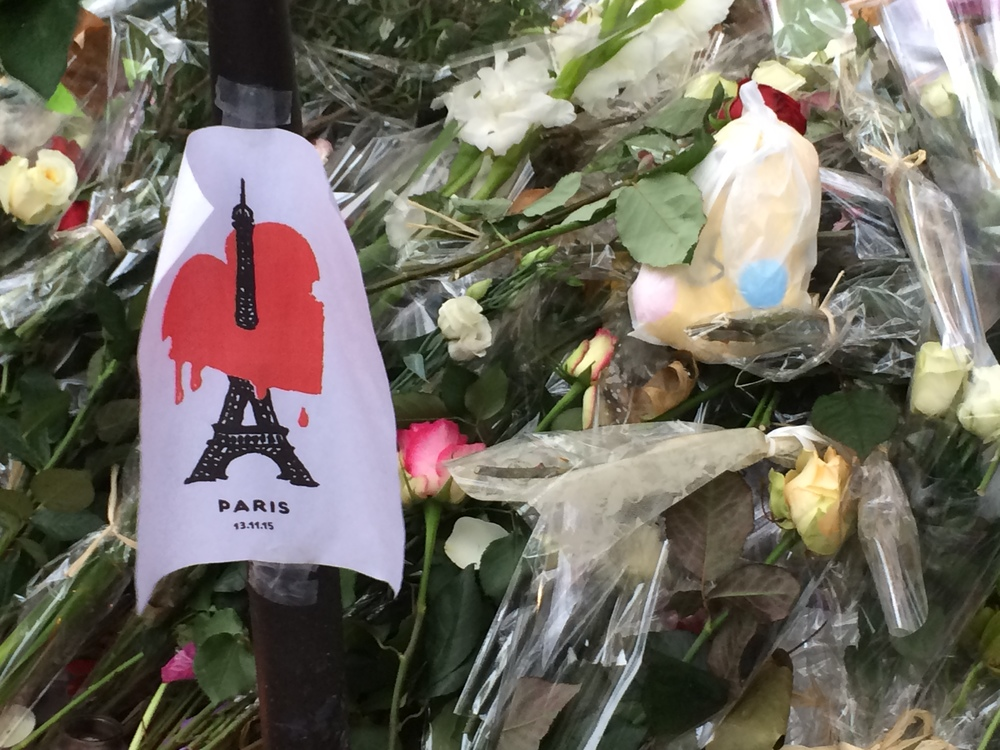 A tribute at Café Bonne Biere
