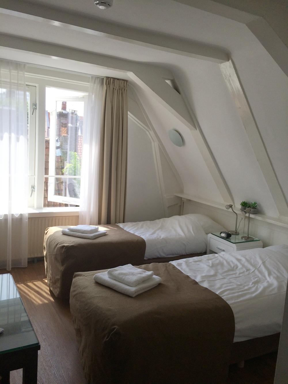 My sunny room at Hotel Prinsenhof