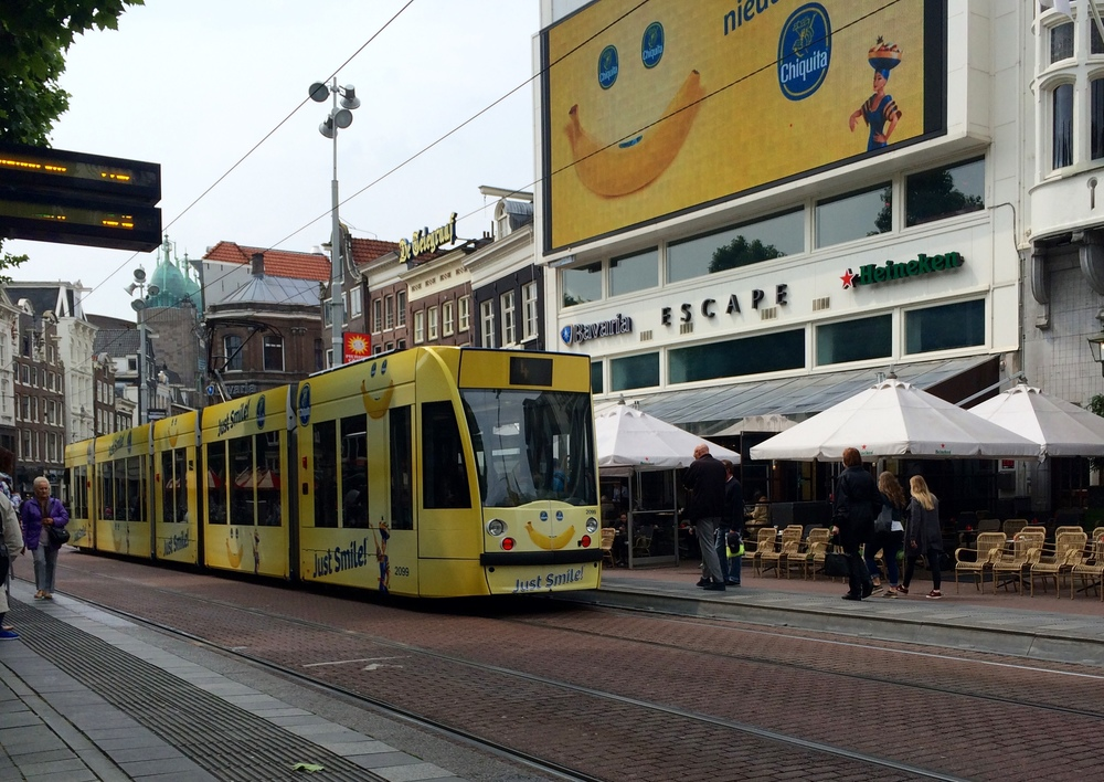 Who wouldn't want to ride the Chiquita Banana tram?
