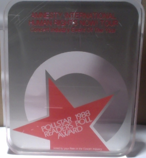 Pollstar 1988 Readers Poll Award