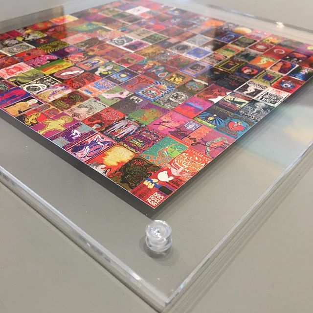 Plexi sandwich frame for small concert poster images. #customframing #plexisandwichframe #concetposters #sixtiesmusic