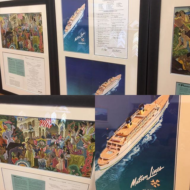 Someone saved all their memorabilia from a Hawaiian cruise in 1955. Menus, passenger lists, daily news and cleaning receipts. Very cool!  #customframing #hawaiiancruise #menuart #hawaii #cruisinglife #historicpreservation #matsonline