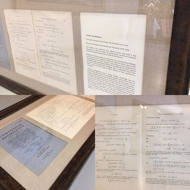 How cool is this?  First edition offprint issues of mathematics papers by Alan Turing. #customframing #mathematics #alanturing #coolgift