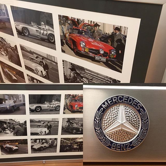 Cool Mercedes Benz photo series by Jesse Alexander with hood badge attached. #customframing #photography #mercedesbenz #jessealexanderphotography