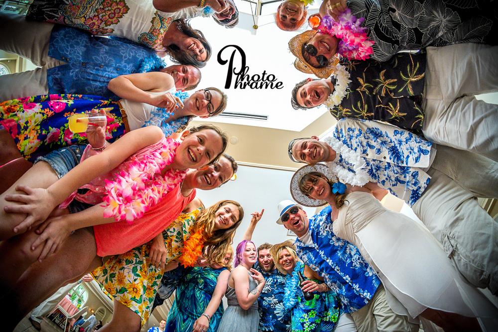 Roundup Hawaiian Party, Check! Ali and Andrew at Birch Hill. Photo Phrame Photography, Albany, NY
