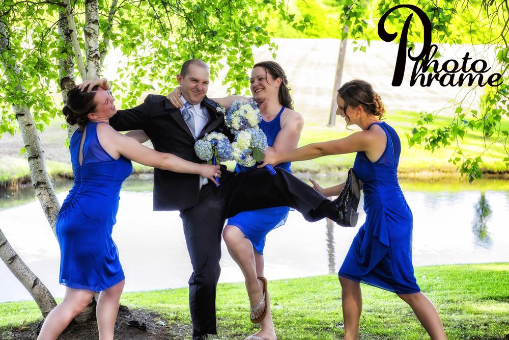 Attack of the killer Bride's Maids! Photo Phrame Photography, Albany, Saratoga, NY