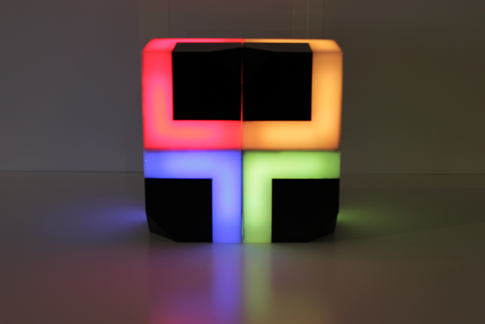 """There are several ways of playing with the PIXELS.  1. Displaying and coloring the objects creatively to make their own shape of light effect(lamp). 2. Connect to the iOS app """"PIXELS"""" and play with color changes created by digital environment."""