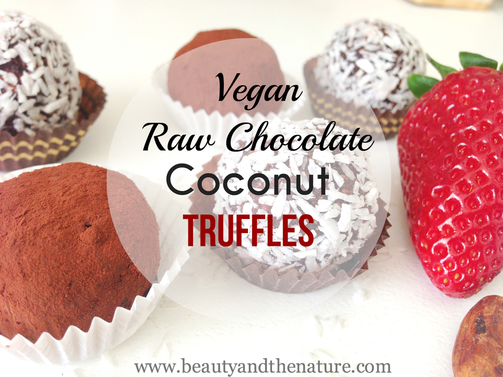 Vegan Raw Chocolate Truffles