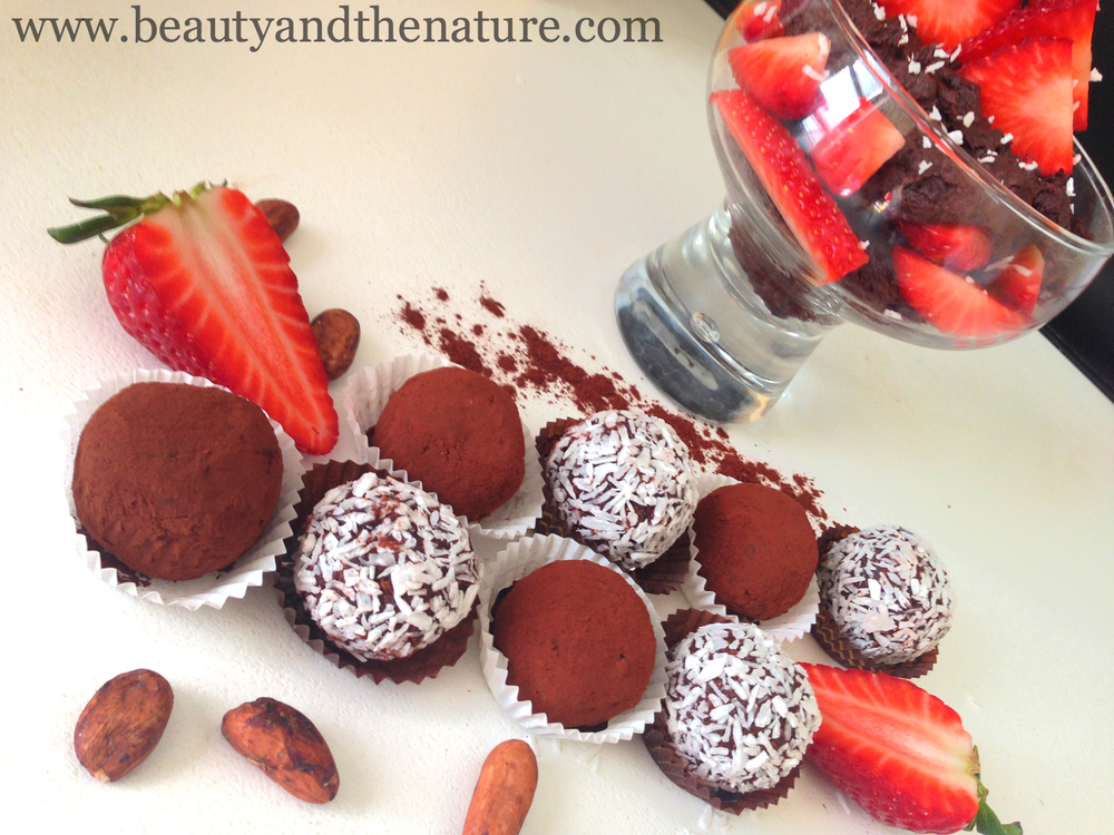Raw Vegan chocolate truffles
