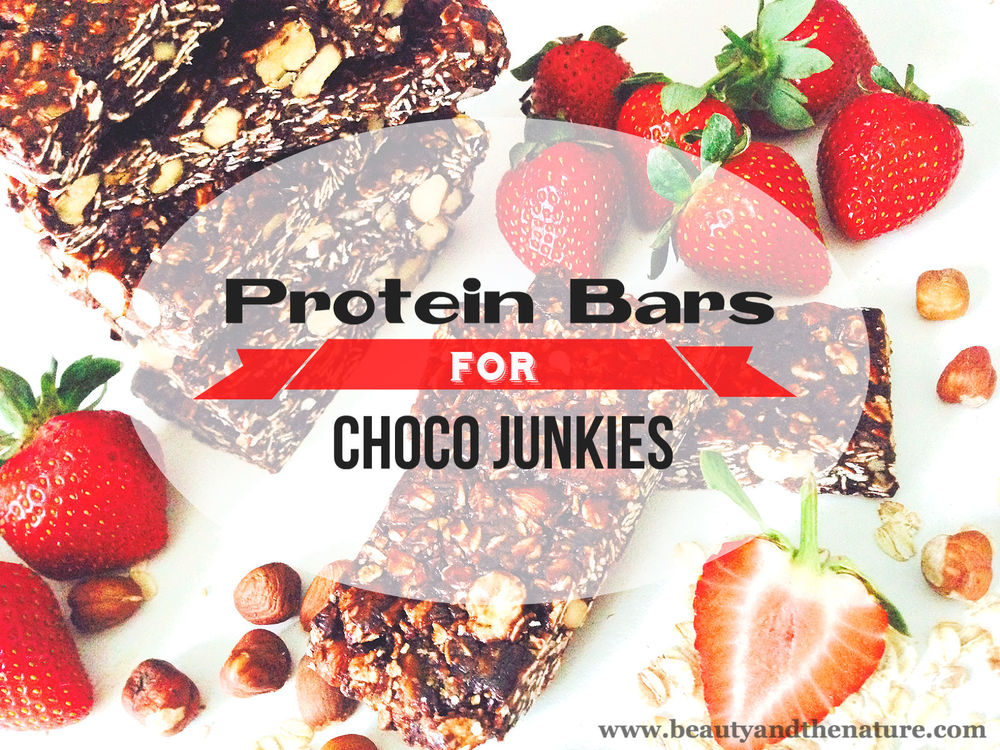 Beauty and the nature protein bars choco junkies