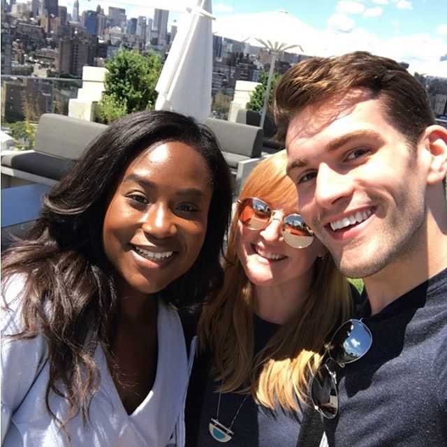 The family that lunches together... #maselfies #rooftop #letsdolunch