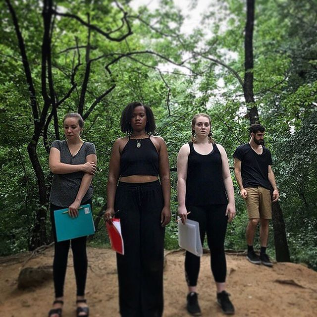 3/4 of our Women Chalkis, plus Achilles. #iphigenia by @spiritfoxproductions