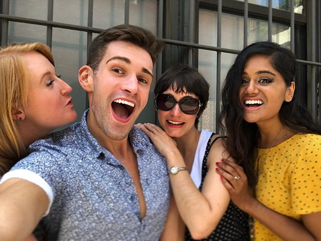It's hard to say goodbye to my Squarespace besties. Anisha, my original Maselfie older sister, and my two step-sisters Carly and Ariel, who were almost never evil. I'll miss you three! #lastlunch #leaving #love