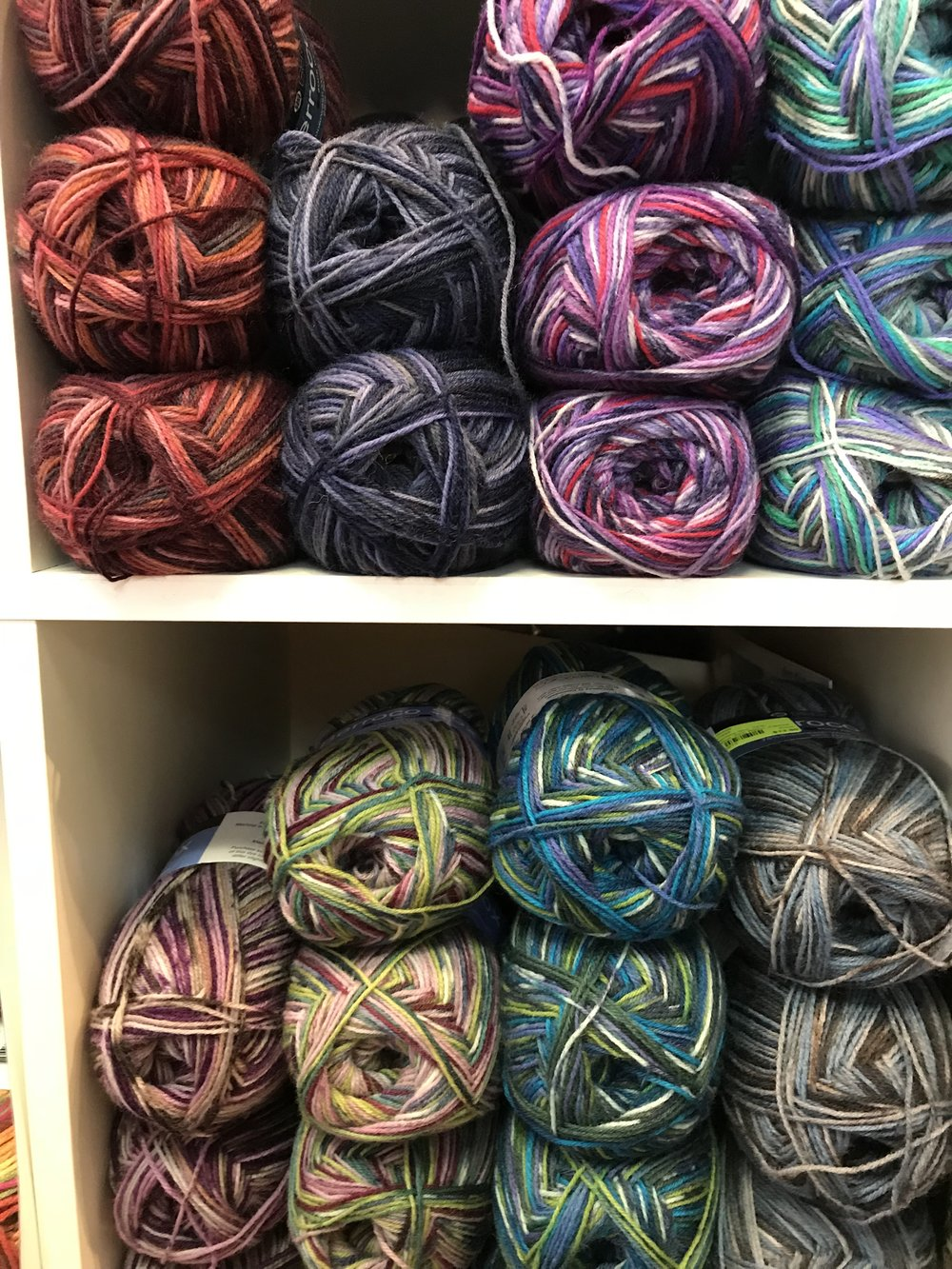 Berroco Sox   is perfect for... SOCKS! Blend of superwash wool and nylon, this knits up in fun fairaisle patterns.