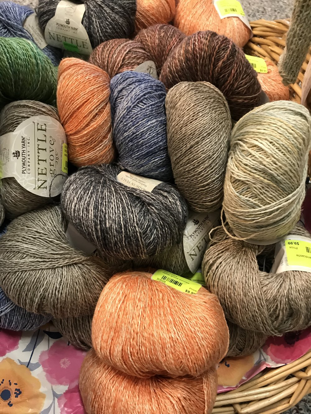 Nettle Grove   - Yes, nettle fiber blended with cotton, linen, and silk makes this is easy and satisfying to knit with on its own or blended with another lightweight yarn.