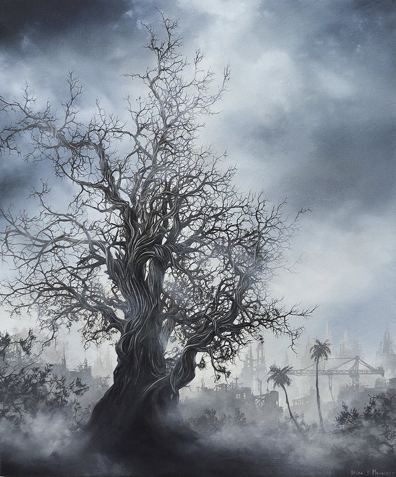 "'ARTERIAL TREE' 10"" x 12"" oil on panel - 2015"