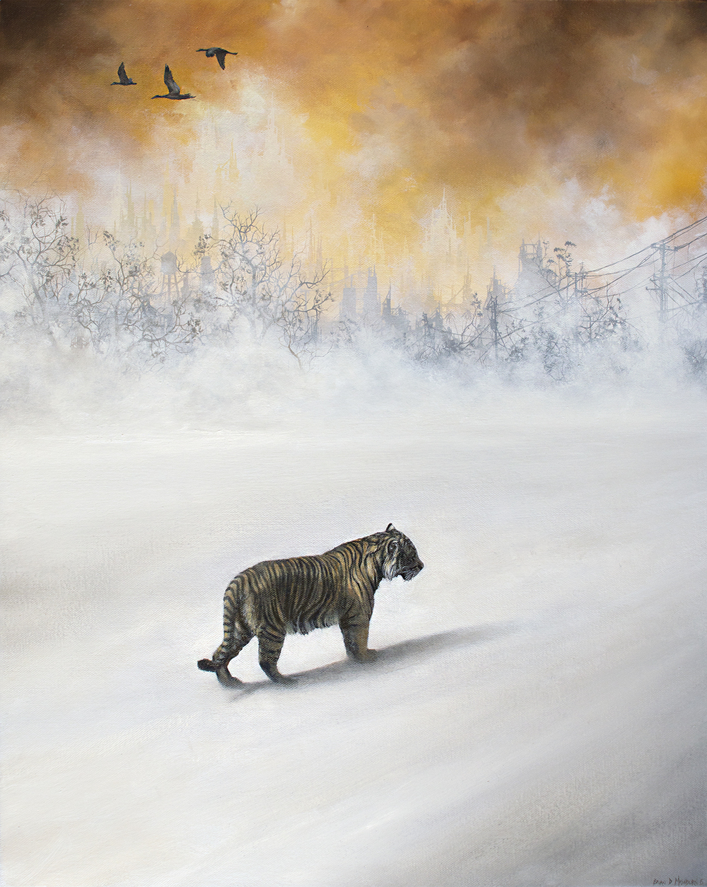 "sumatran tiger 16"" x 20"" oil on canvas"