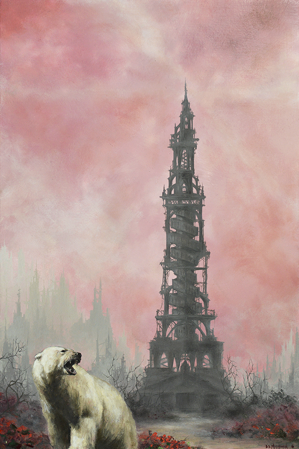 "the tower  6"" x 9"" oil on panel"
