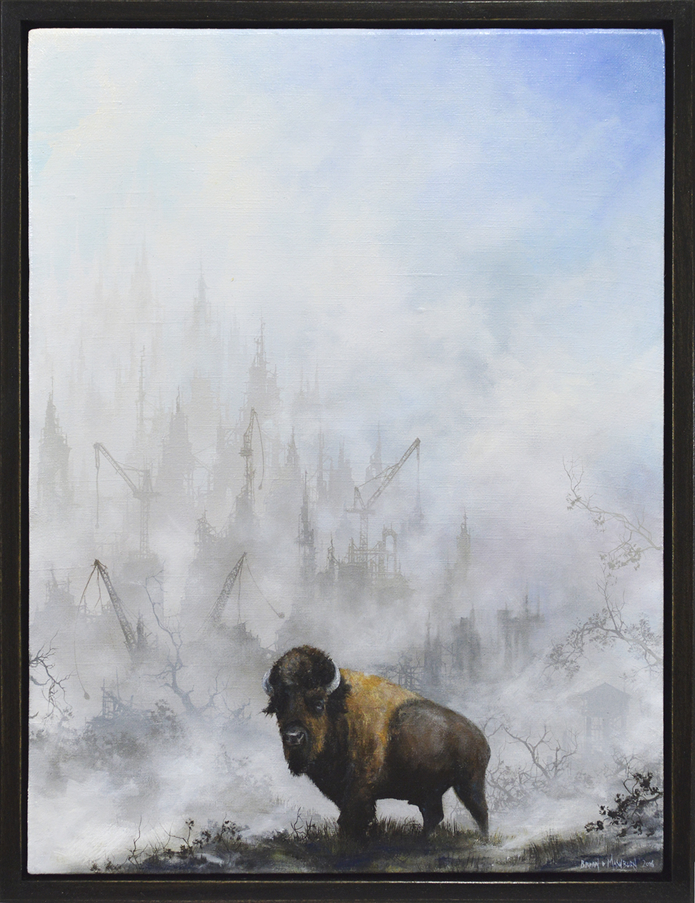 "bear 9"" x 12"" oil on linen"