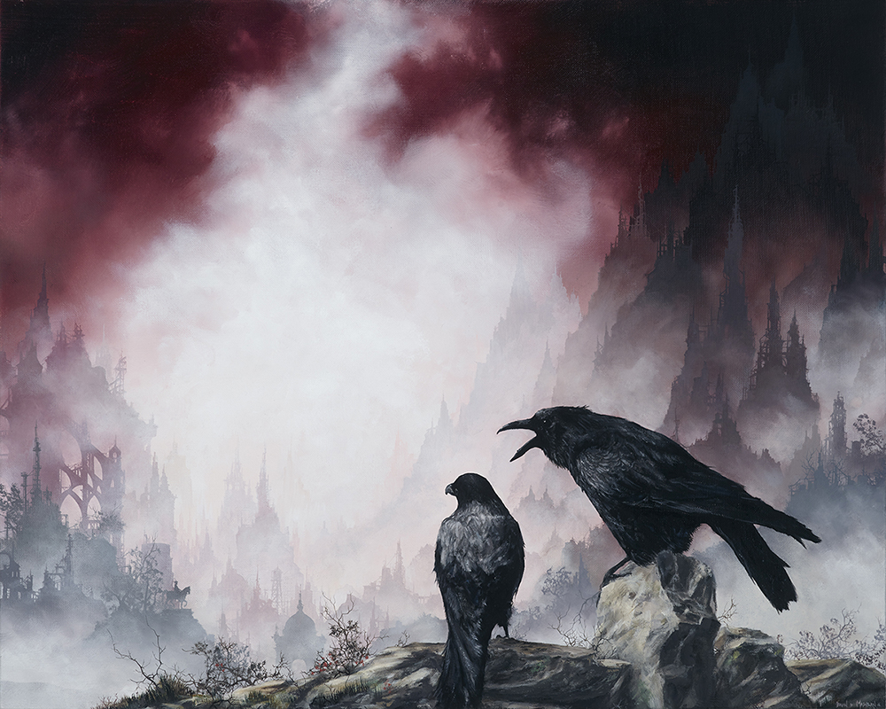 "crows  22.5"" x 18.5"" oil on linen"