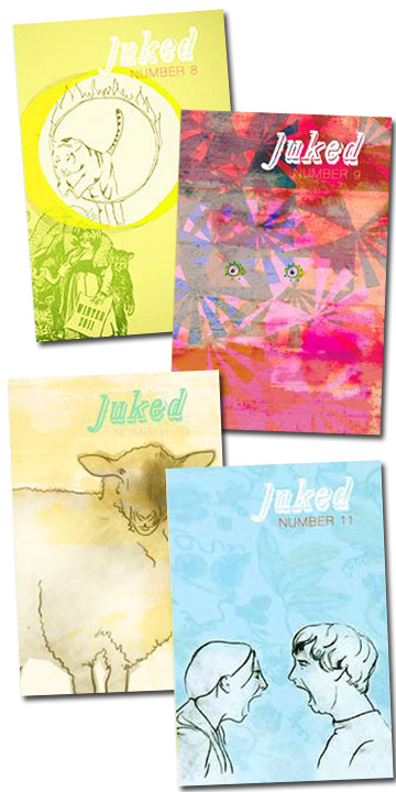 illustrated covers for JUKED