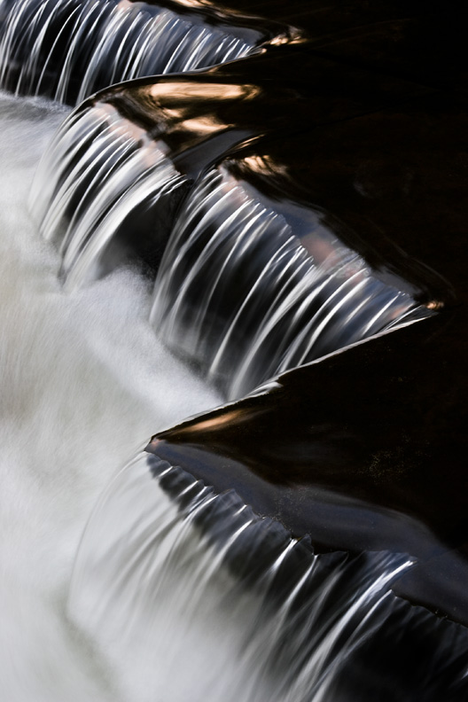 """Zig Zag"" - Rapids in a small creek create strikingly angular patterns. Upstate New York."