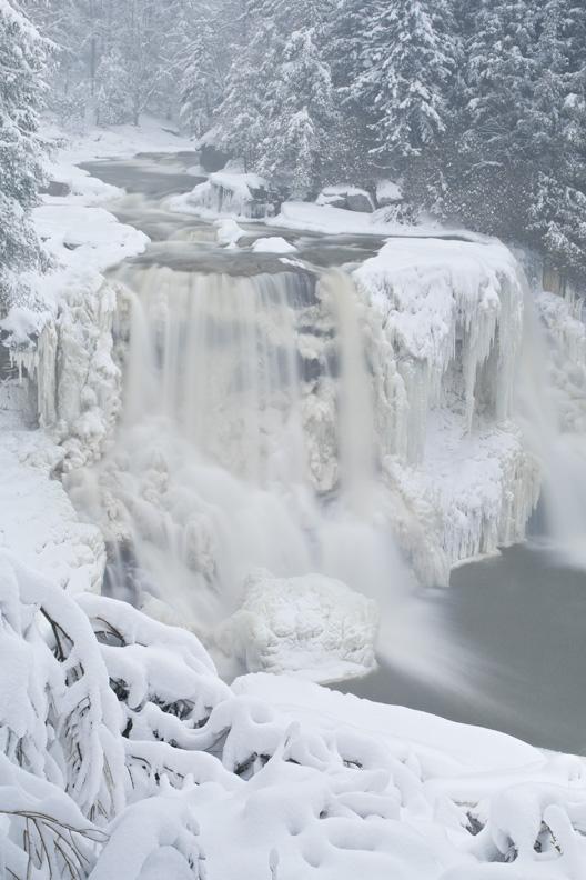 """Blackwater Falls in Winter"""