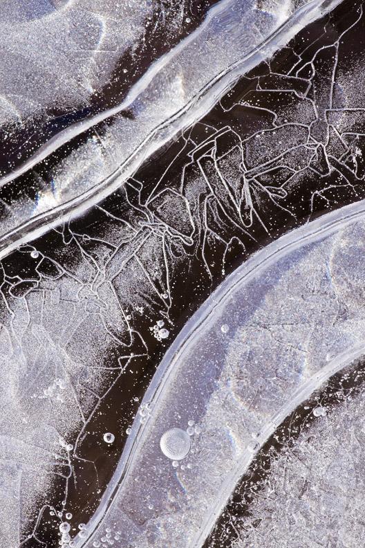 """Winter Jigsaw"" - Interesting patterns in ice. Maryland."