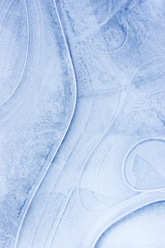 """Ice Swirls"" - Swirly patterns in ice. Bull Run Regional Park, Virginia."