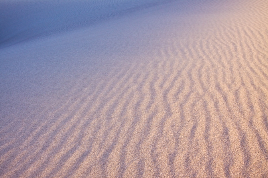 """Sands of Time"" - A mixture of warm and cool light between ripples in the dunes. Great Sand Dunes National Park, Colorado."