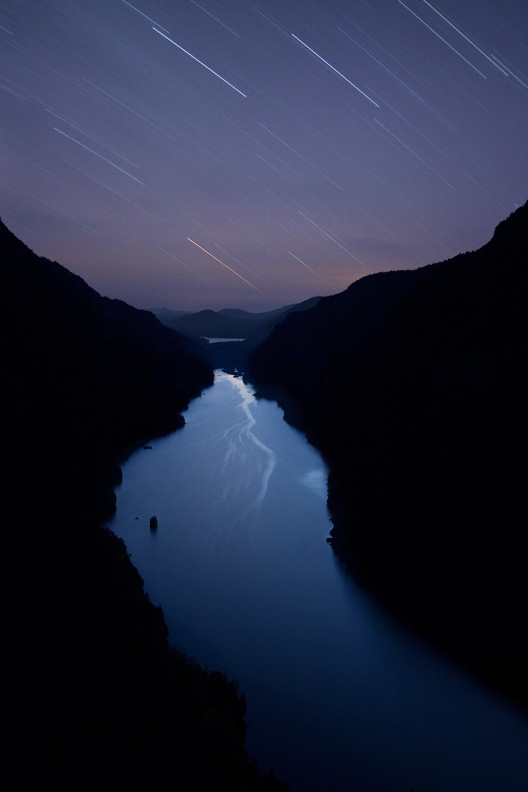 """Ancient Souls"", Indian Head Overlook Star Trails, Adirondack State Park, New York, United States."