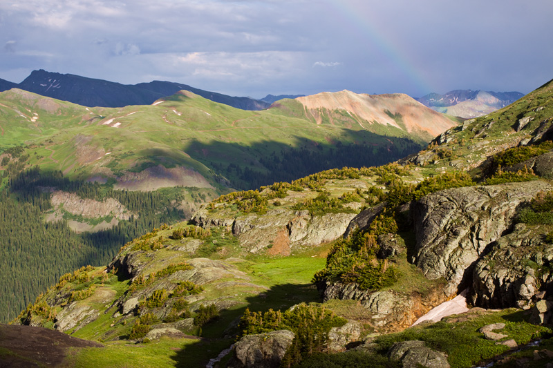 Rainbow Over Porphyry Basin, San Juan Mountains, Colorado, United States.