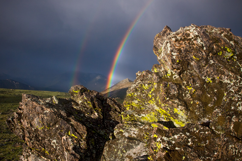 Double Rainbow, Rocky Mountain National Park, Colorado, United States.