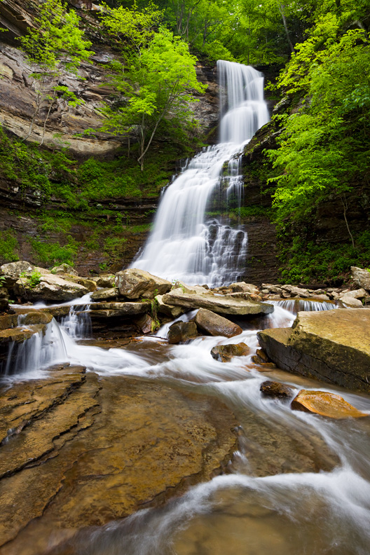 Cathedral Falls in Spring, West Virginia, United States.