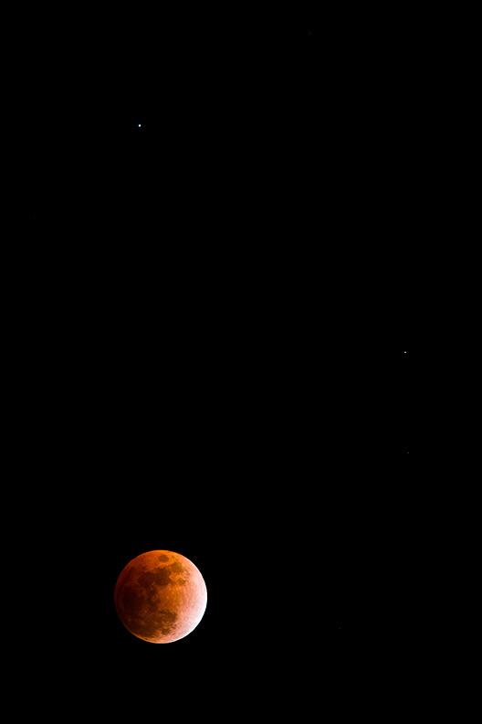Lunar Eclipse, February 20th, Manassas Battlefield National Park, Virginia, VA, United States