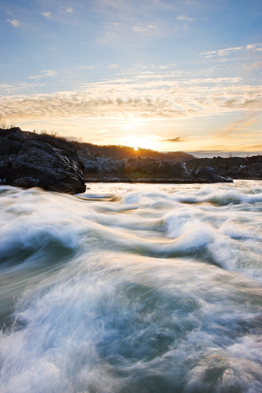 Great Falls National Park Sunrise, Mclean, Virginia