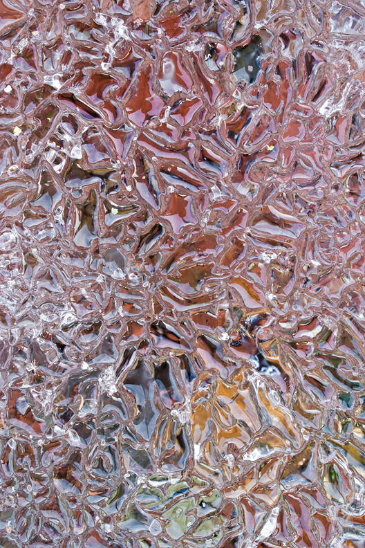 """The Kaleidoscope"", Ice Abstract, Taft Bay Park, Oneida Lake, Bernhard's Bay, New York"