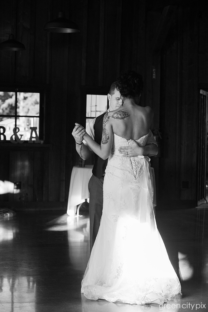 First dance as Mr. and Mrs. Good Times. The ceremony and reception were held at the  Kelley Farm  in Bonney Lake, which is a gorgeous setting for a wedding.