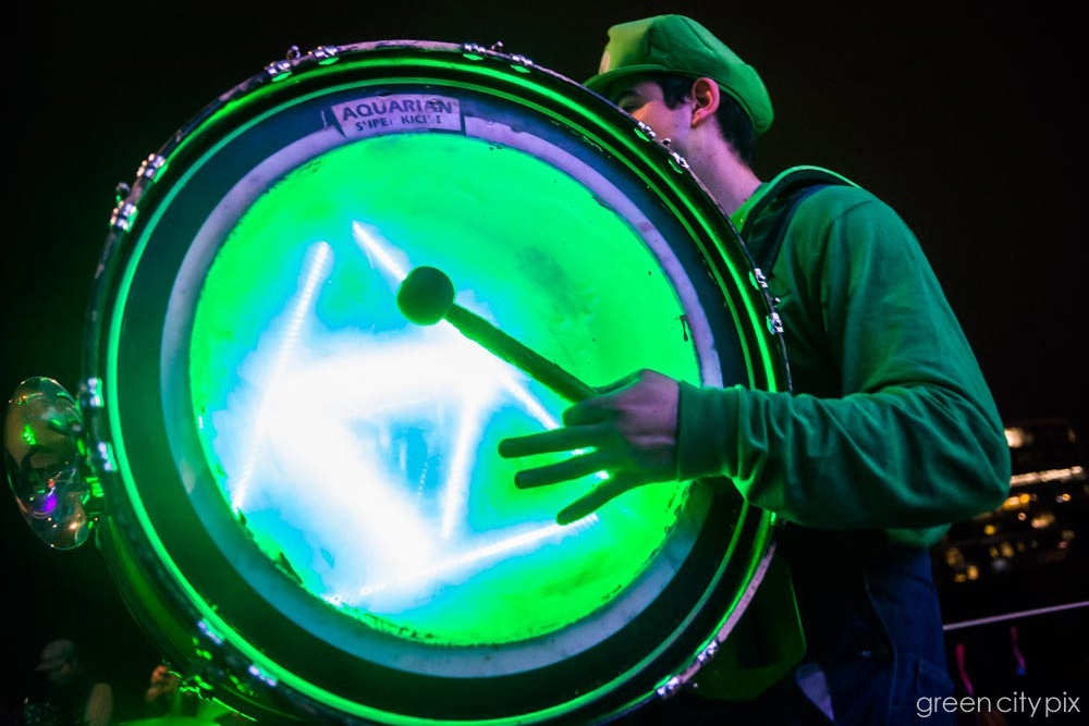 Banging the neon drum.