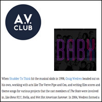Stream Craig Wedren's  Baby  mixtape...,  A.V. Club,  Jul 12, 2012