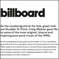Craig Wedren Dances Again with Baby,  Billboard Magazine , October 14, 2004