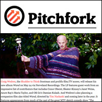 Shudder to Think Craig Wedren's Readies Solo Album...,  Pitchfork , Feb 18, 2011