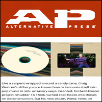 Craig Wedren-Wand,  Alternative Press , Sept 11, 2011