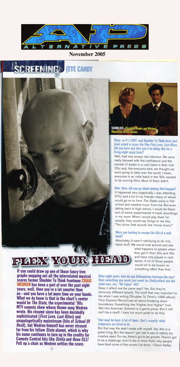 Flex Your Head,  Alternative Press , Nov 2006