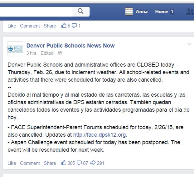 Photo Credit: Denver Public Schools Facebook Page