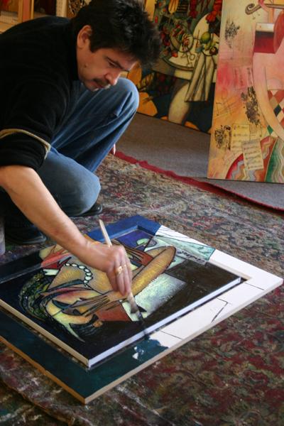 Andrei at work on frame.jpg