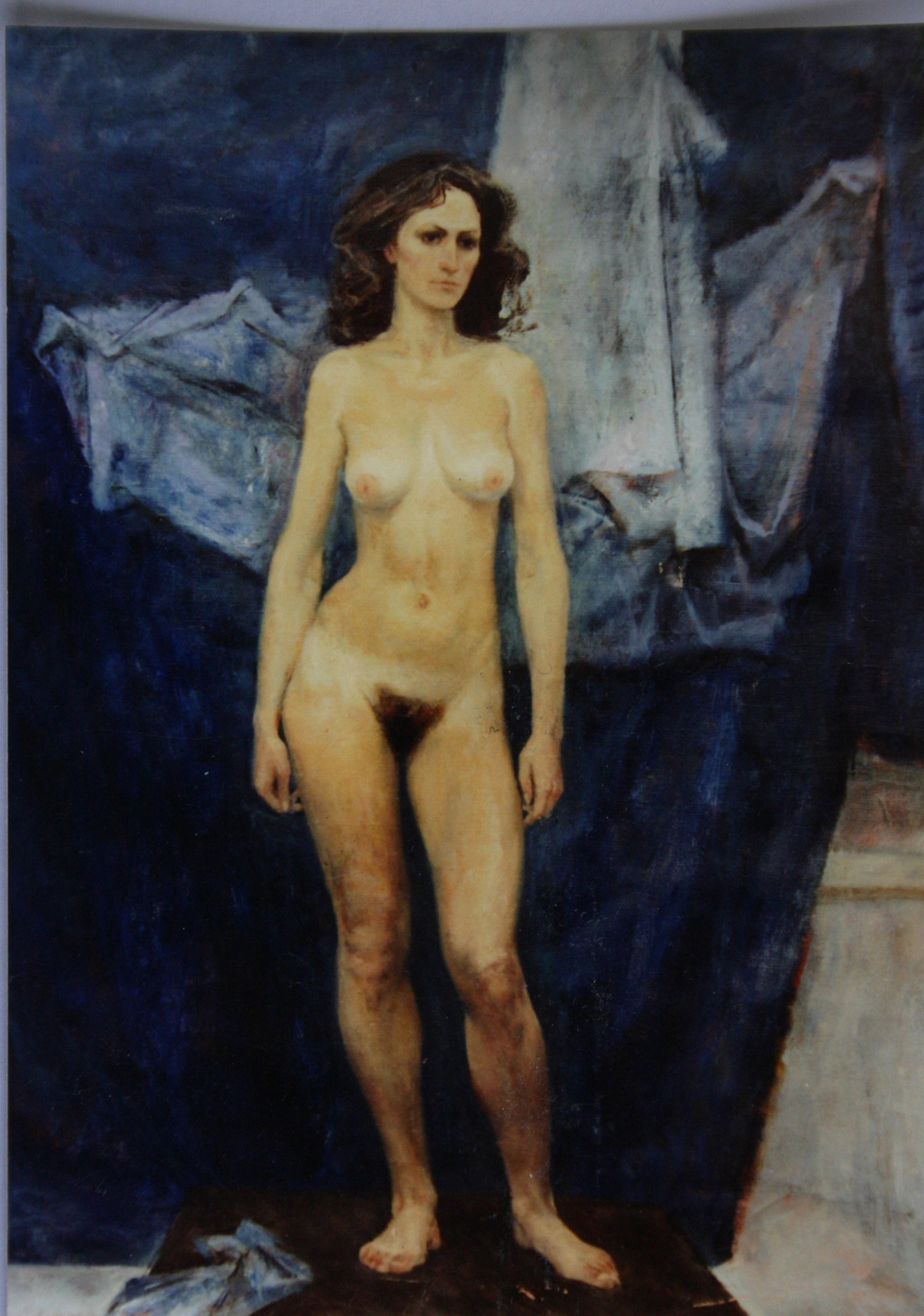 """Nude on Blue"""