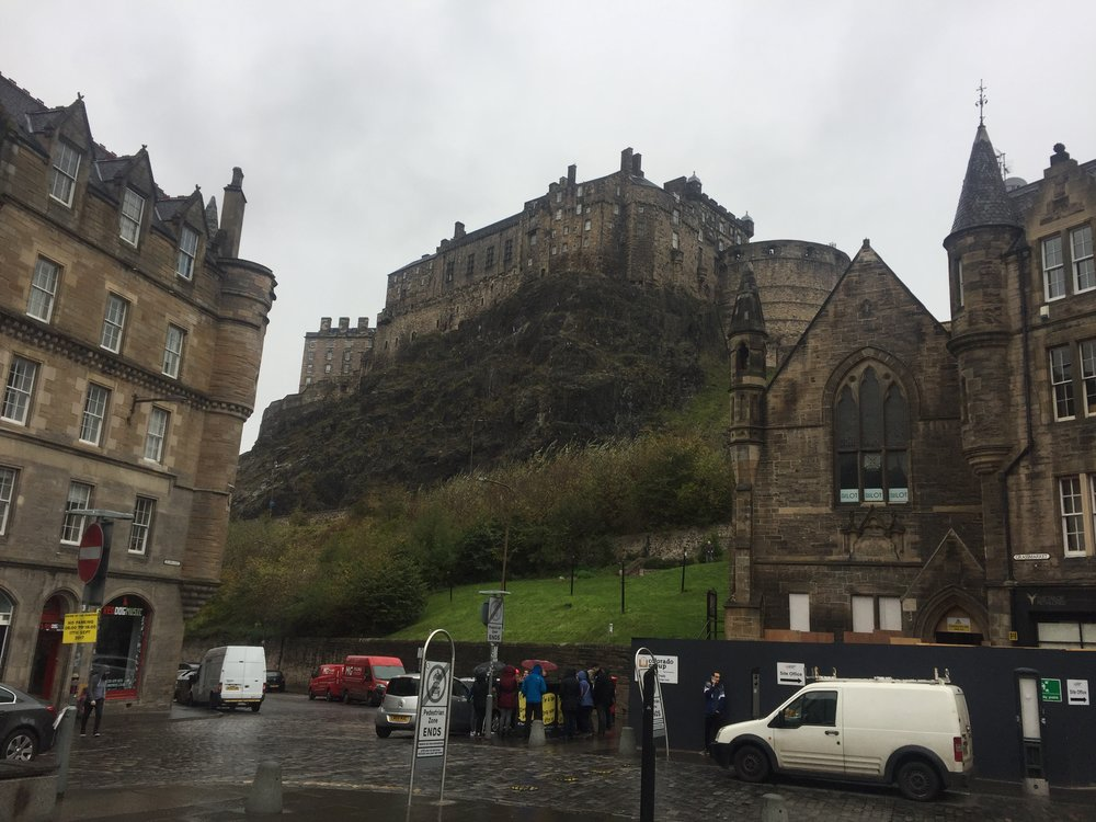 Edinburgh Castle on the Cliff
