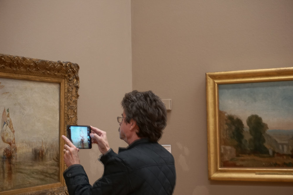 Andrei enjoying JMW Turner