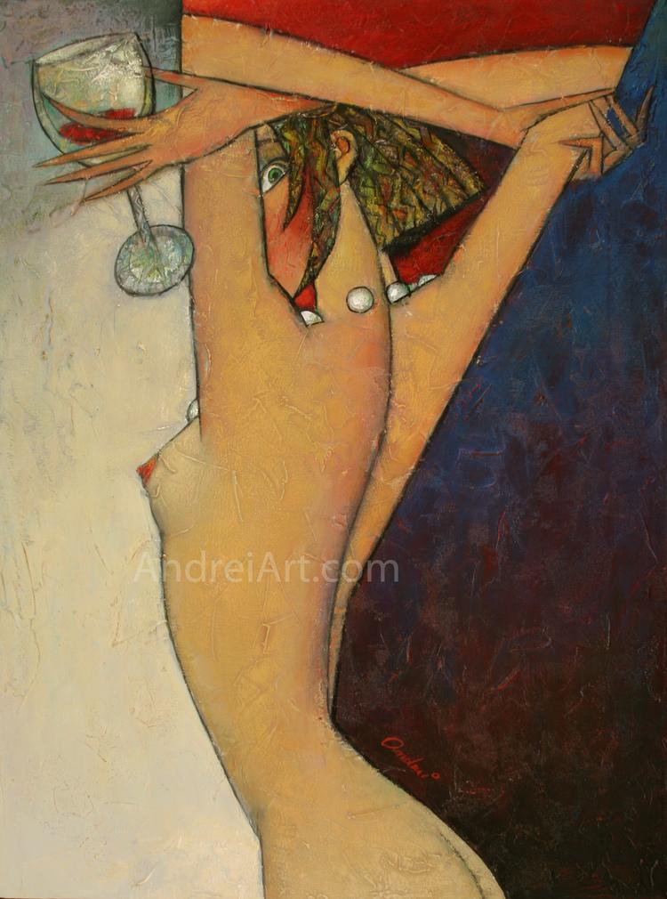 """""""Beaujolais Nouveau"""" Oil on Canvas  24"""" x 18"""""""